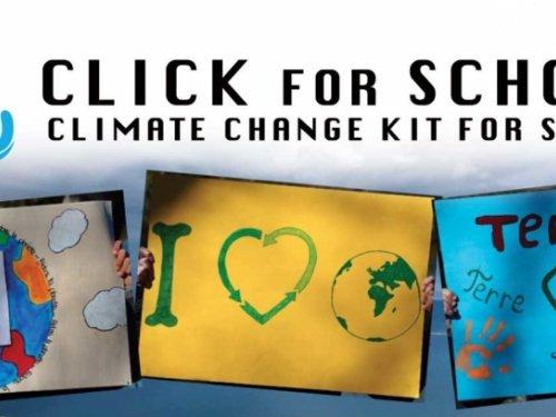 CLI.C.K. FOR SCHOOLS, il kit educativo dedicato ai cambiamenti climatici