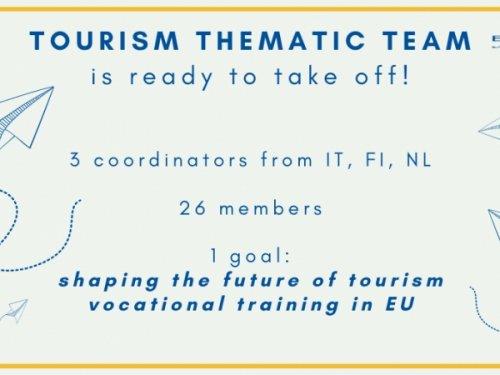 Team Tematico sul Turismo è pronto a partire!